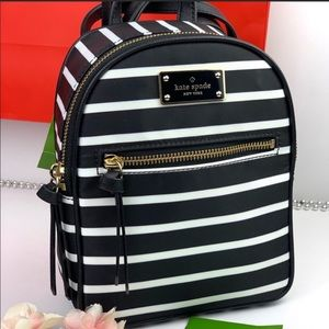 Kate Spade French Stripe Mini Bradley Backpack
